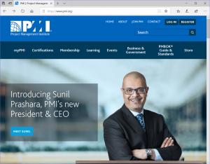 米国PMIのWebサイト