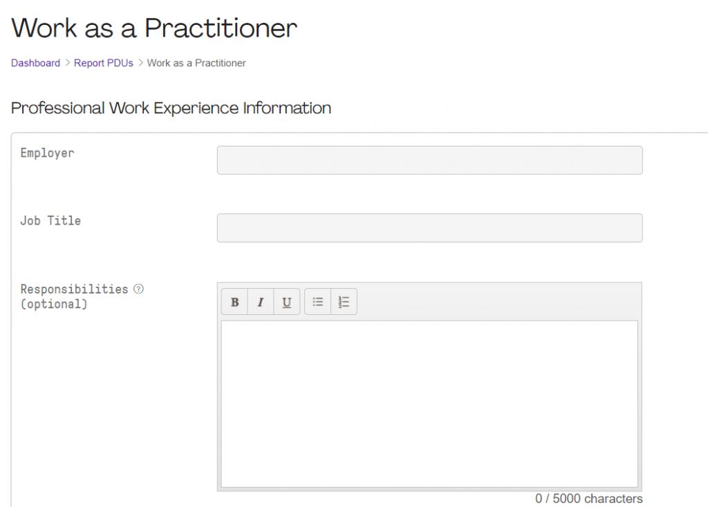 Work Practiotioner Form 1